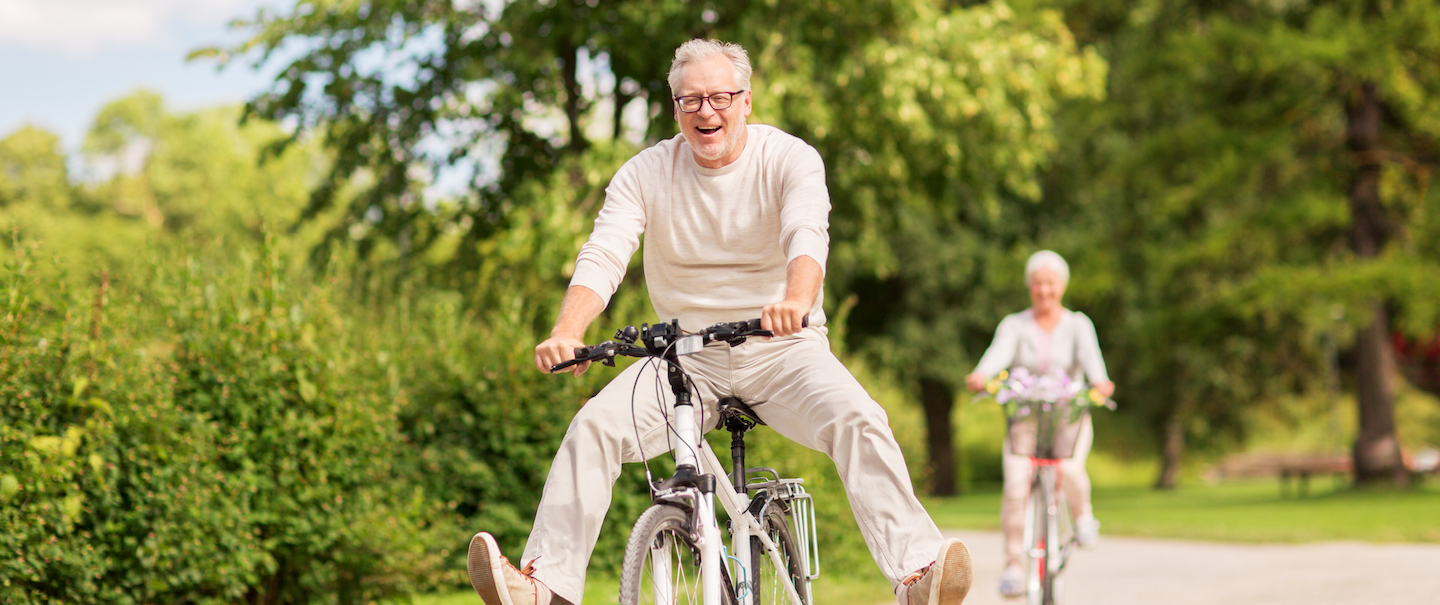 Retired Couple on Bikes